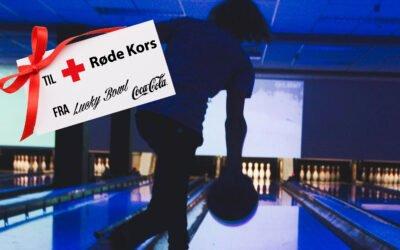 Røde Kors får gavekort fra Lucky Bowl til en verdi av over 100.000kr av Coca-Cola